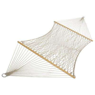 13 ft. Island Original Cotton Patio Rope Hammock in White