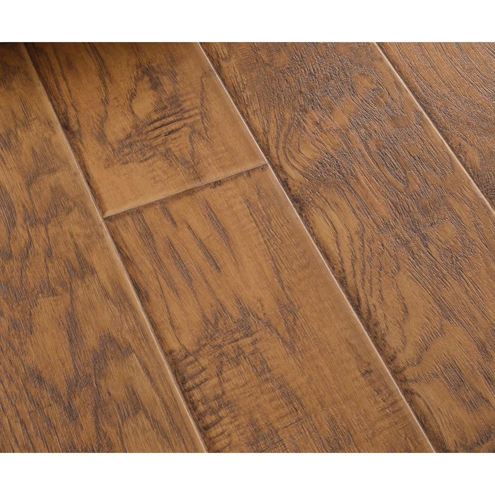 null Natural Hickory Laminate Flooring - 5 in. x 7 in. Take Home Sample-DISCONTINUED