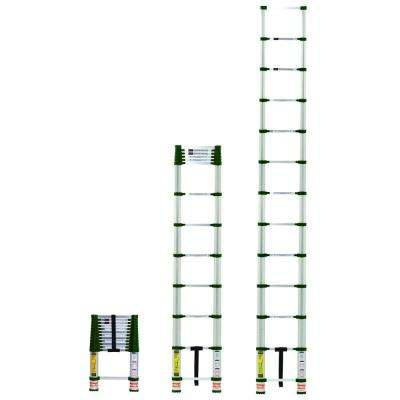 12.5 ft. Telescoping Aluminum Extension Ladder with 300 lbs. Load Capacity Type 1A Duty Rating
