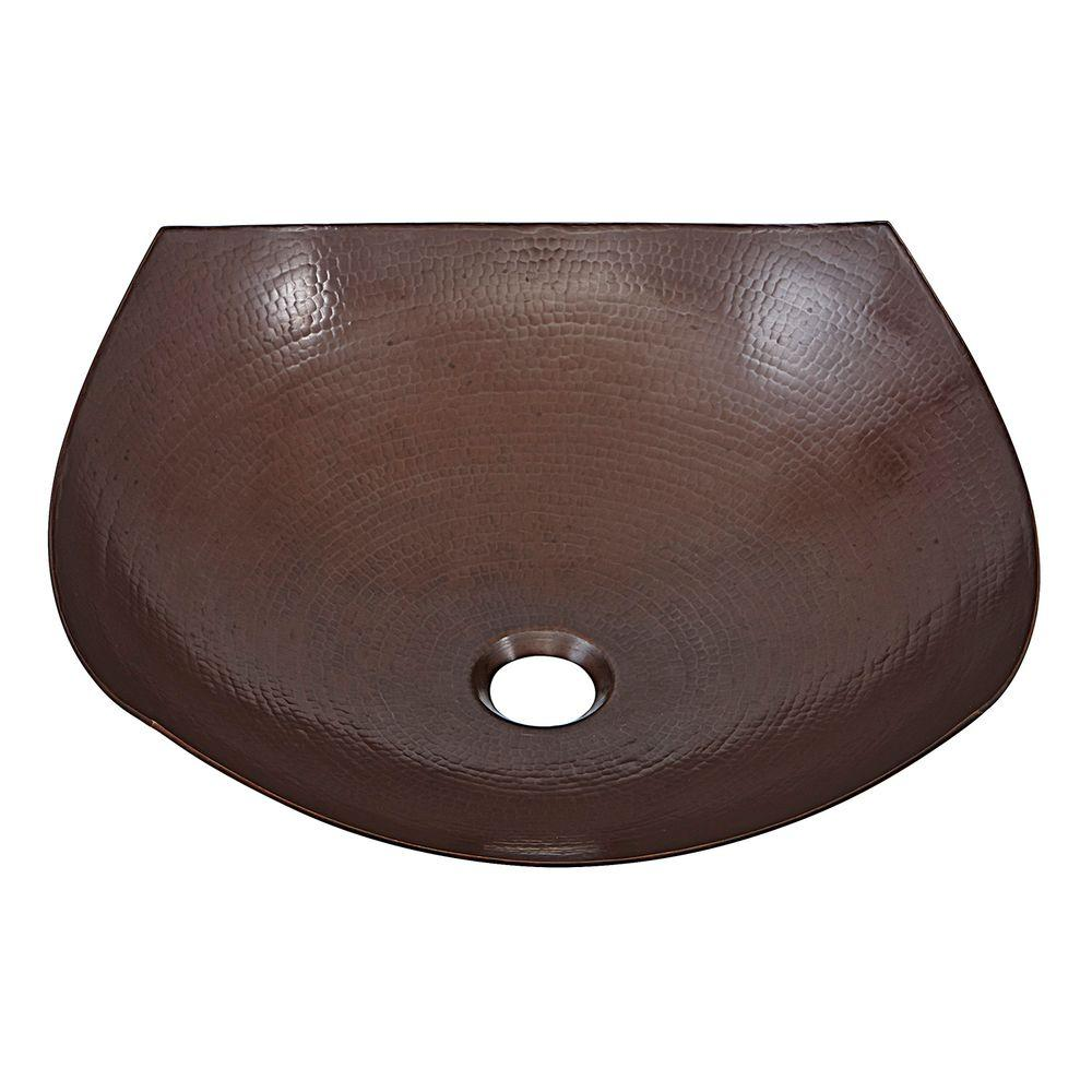 SINKOLOGY Lovelace Above Counter Handmade Pure Solid Copper Vessel Sink in Aged Copper