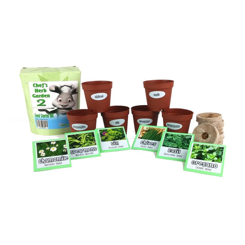 Chefs Herb Garden 2 Seed Starter Kit