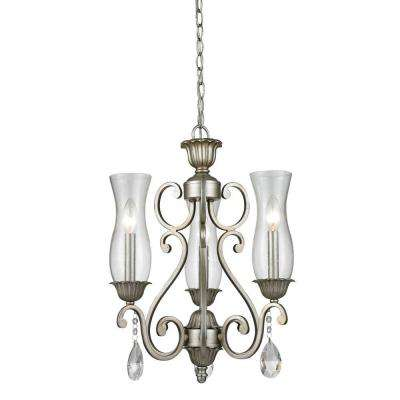 Havana 3-Light Antique Silver Chandelier