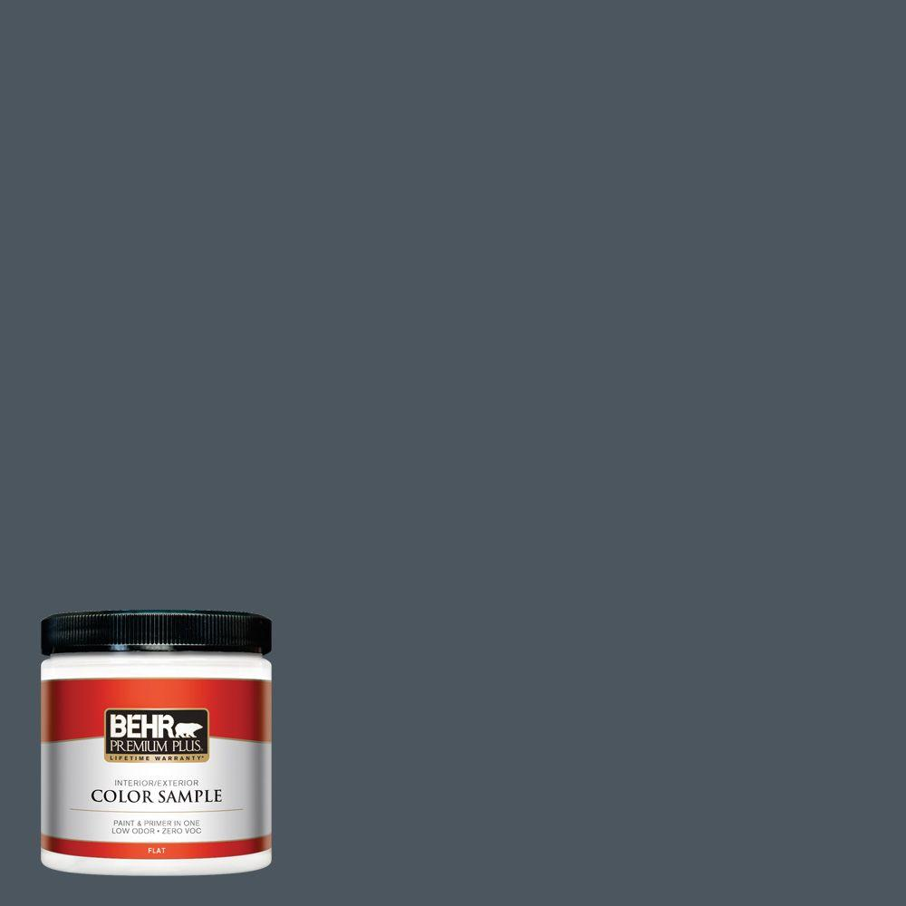 N480 7 Midnight Blue Flat Interior Exterior Paint And Primer In One Sample