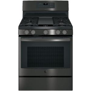 Adora 5.0 cu. ft. Gas Range with Self-Cleaning Convection Oven in Black Stainless Steel, Fingerprint Resistant