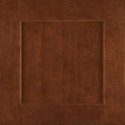 14-9/16x14-1/2 in. Cabinet Door Sample in Reading Cherry Spice
