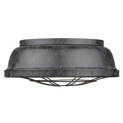 Bartlett 2-Light Black Flush Mount