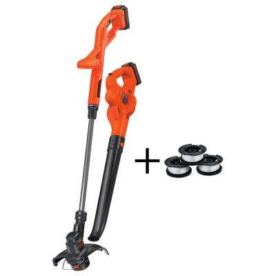 20-Volt MAX Lithium-Ion Cordless String Trimmer/Sweeper Combo Kit (2-Tool) w/ Batteries, Charger and 3 Bonus AFS Spools