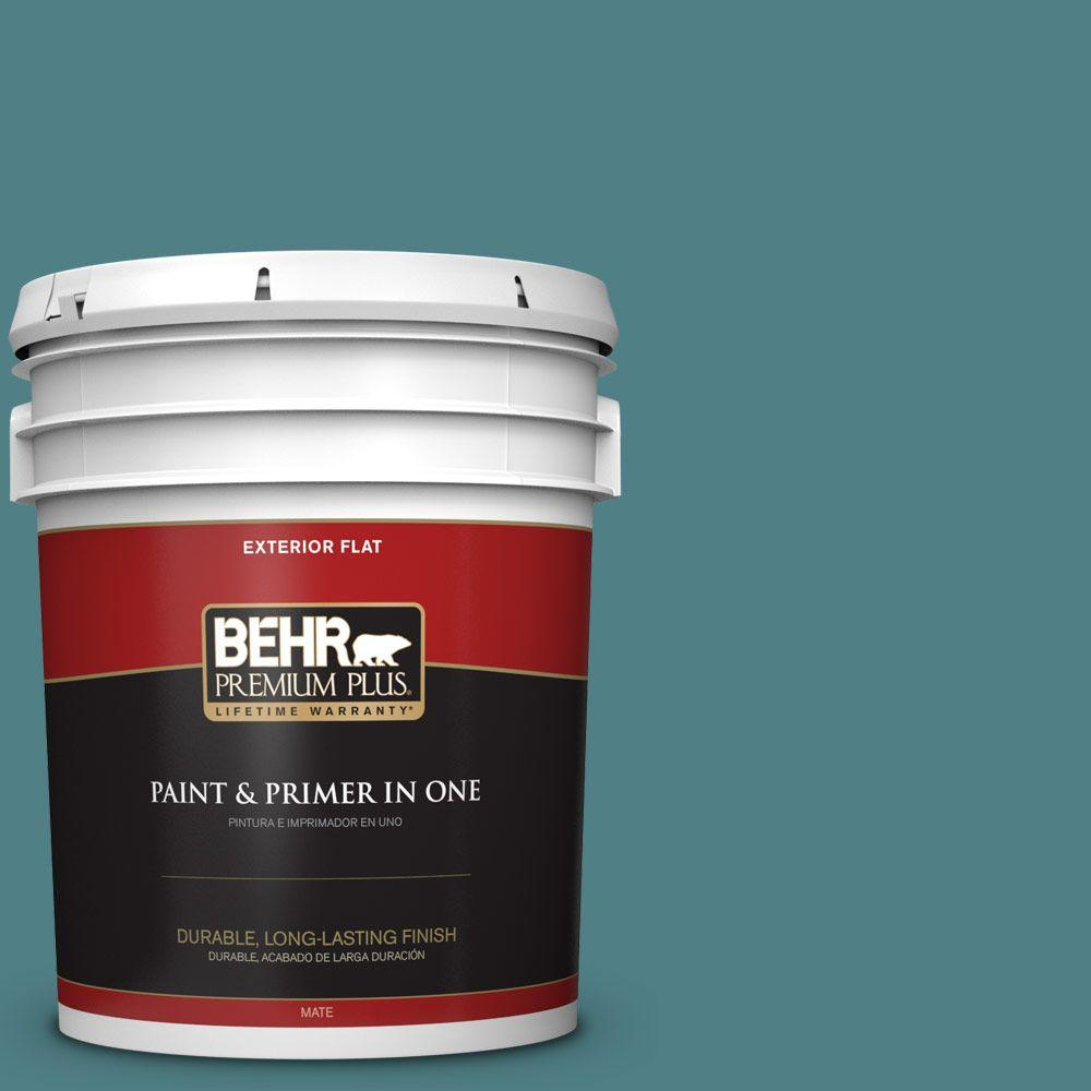 5-gal. #ICC-75 Tapestry Teal Flat Exterior Paint