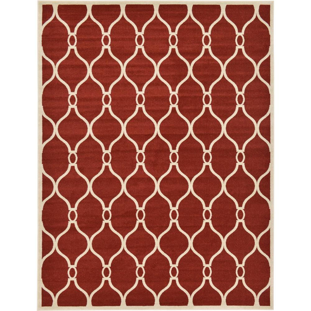 Unique Loom Trellis Red 9\' x 12\' Rug-3124617 - The Home Depot