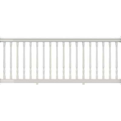 Premier 8 ft. x 36 in. White Vinyl Rail with Colonial Balusters