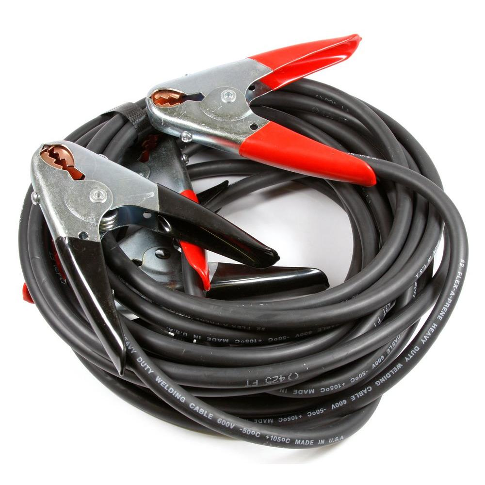 Forney 25 ft. 4-Gauge Heavy Duty Battery Jumper Cables