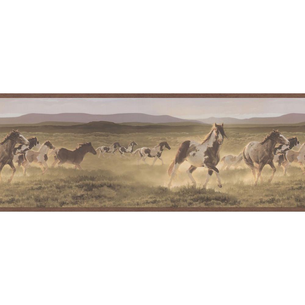 Brewster 9 in. Wild Horses Border