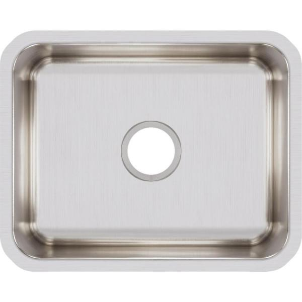 Lustertone Undermount Stainless Steel 21 in. Single Bowl Kitchen Sink