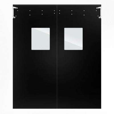 Optima 1/4 in. x 72 in. x 84 in. Single-Ply Black Impact Door