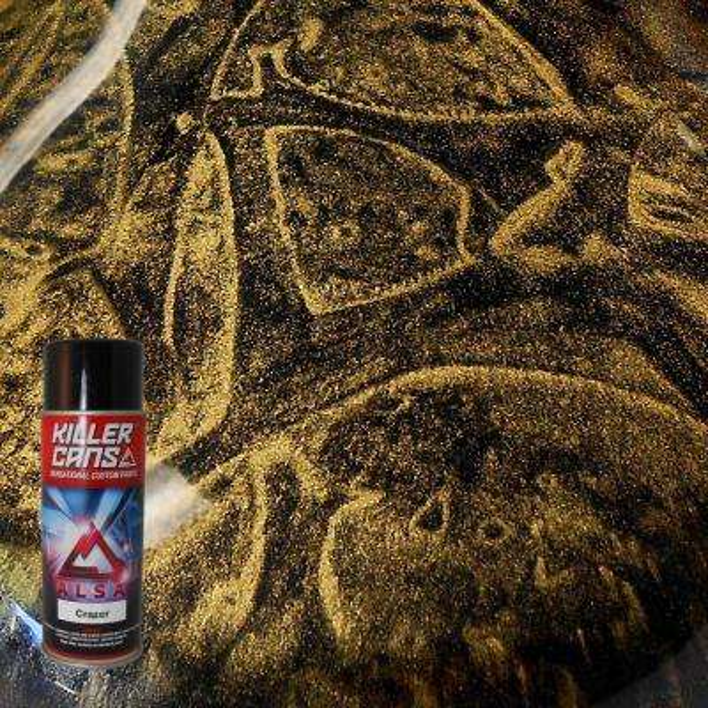 12 oz. Crazer Metallic Gold Killer Cans Spray Paint