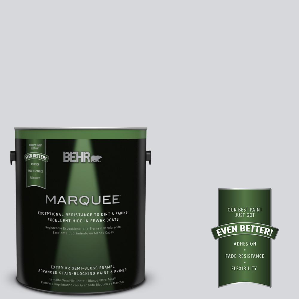 1 gal. #MQ3-25 Gray Shimmer Semi-Gloss Enamel Exterior Paint and Primer