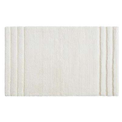 Empress 20 in. x 34 in. Cotton Bath Mat in Parchment
