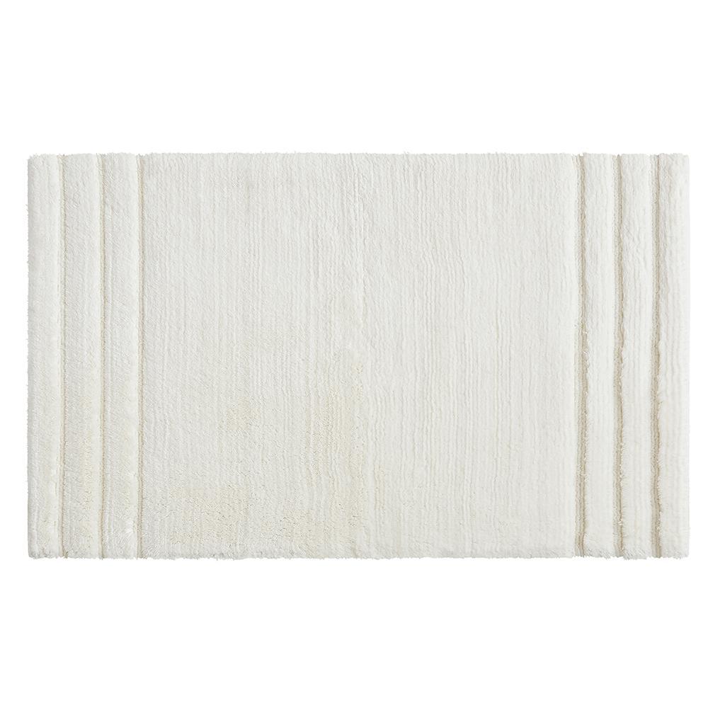Empress 20 in. x 34 in. Cotton Bath Mat in Parchment