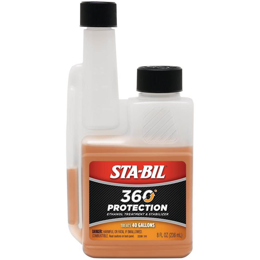 Sta-Bil STA-BIL 360 Protection Ethanol Treatment and Stabilizer 8 oz   Treats 40 Gallons of Fuel