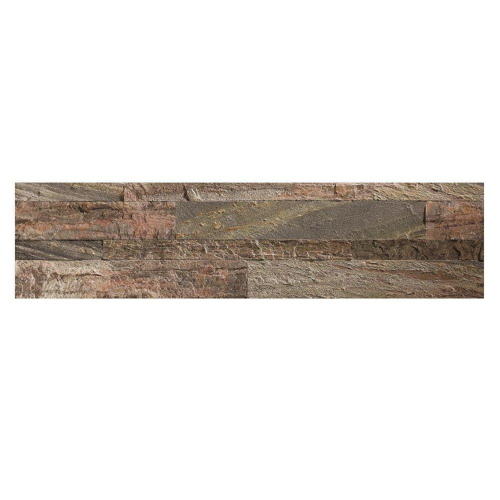 24 in. x 6 in. Peel and Stick Stone Decorative Backsplash