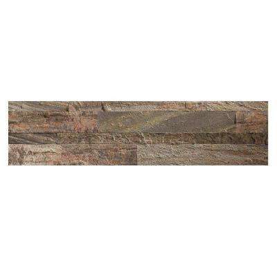 24 in. x 6 in. Peel and Stick Stone Decorative Backsplash in Weathered Quartz