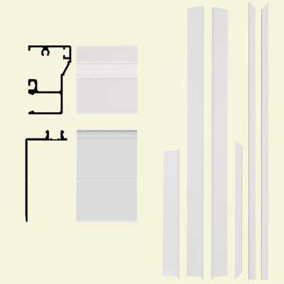 Remodel 6-9/16 in. x 1-1/4 in. x 84 in. Aluminum Entry Door Frame Clad Kit with Brickmould