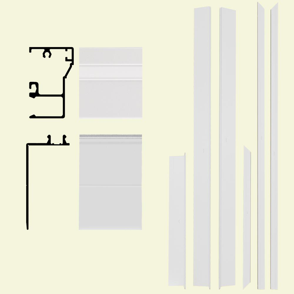 FrontLine Remodel 6-9/16 in. x 1-1/4 in. x 84 in. Aluminum Entry Door Frame  Clad Kit with Brickmould