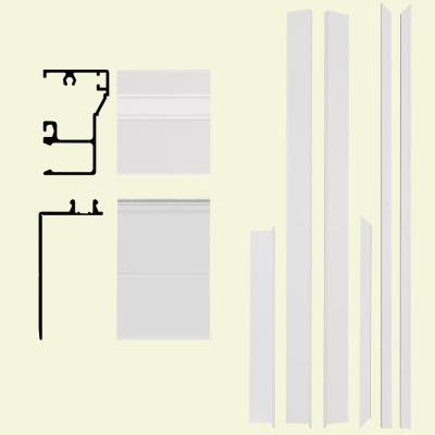 Remodel 6-9/16 in. x 1-1/4 in. x 84 in. White Aluminum Entry Door Frame Clad Kit with Brickmould