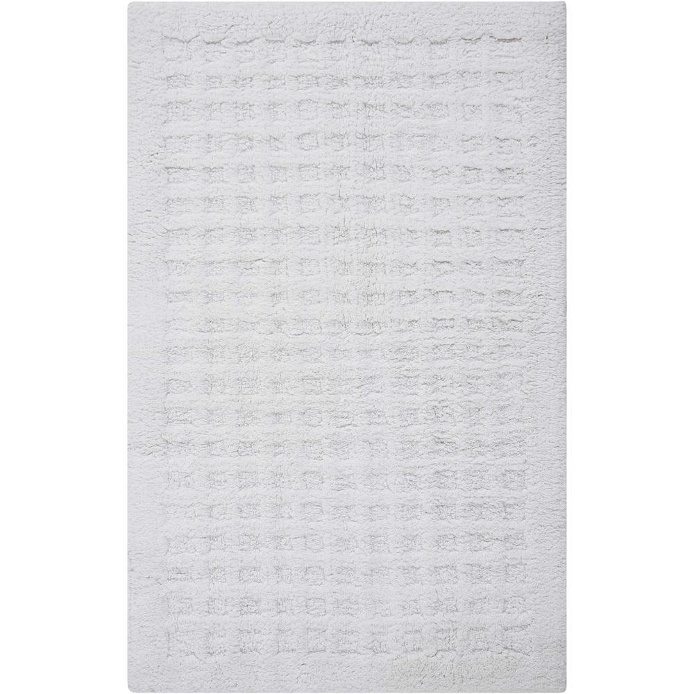 Plush White 1 ft. 9 in. x 2 ft. 10 in. Bath Rug