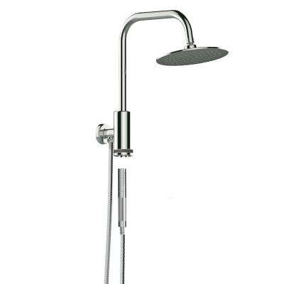 Aquarius Single-Spray Hand Shower and Shower Head Combo Kit in Chrome