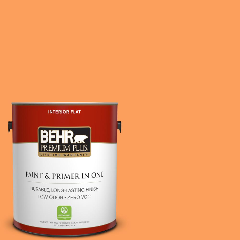1-gal. #T15-10 Clarified Orange Zero VOC Flat Interior Paint