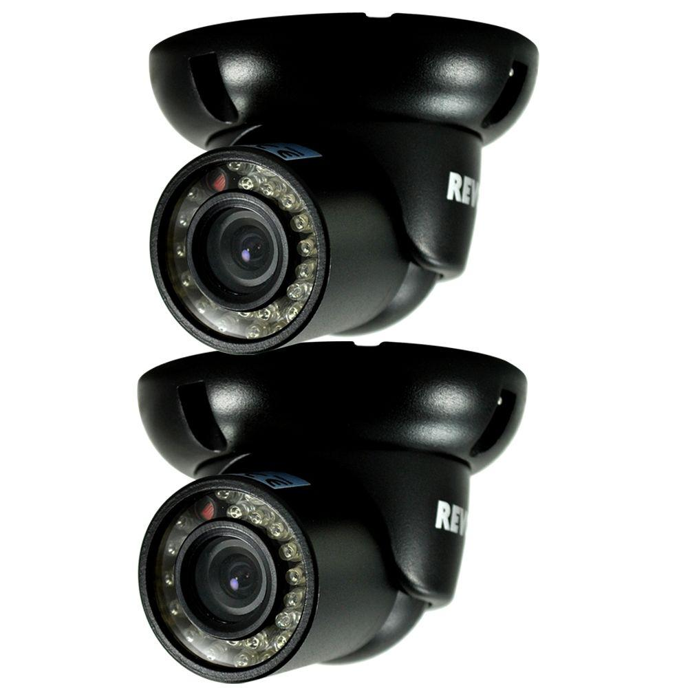 Exterior Home Security Cameras: Revo Wired 700 TVL Indoor/Outdoor Mini Turret Surveillance