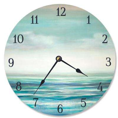 """Serene Waters"" by Third and Wall Wall Clock"