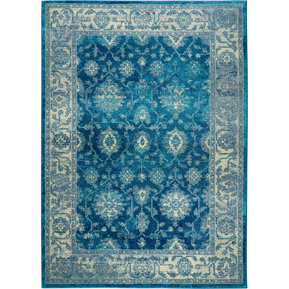 Home Dynamix Serena Blue Ivory 5 Ft 3 In X 7 Ft 2 In Indoor Area