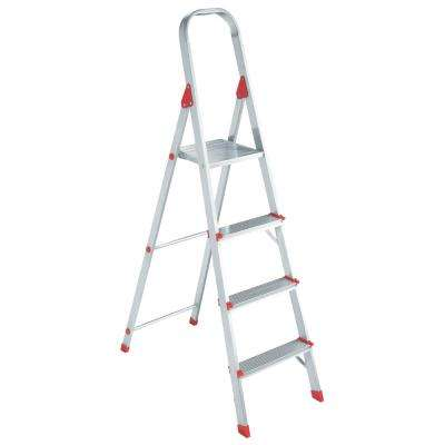 4 ft. Aluminum Platform Step Stool with 200 lbs. Load Capacity Type III Duty Rating