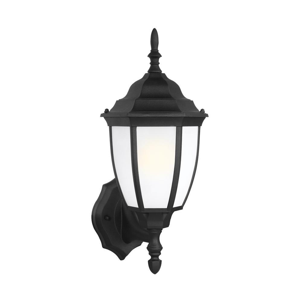 Sea Gull Lighting Bakersville 1-Light Black Outdoor Wall