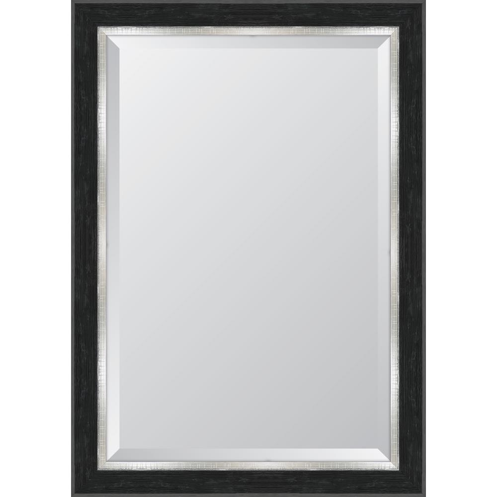 Melissa Van Hise 30 in. x 42 in. Black Catalina Resin Frame Mirror ...