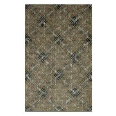 Rus Plaid Earth 8 Ft X 10 Area Rug