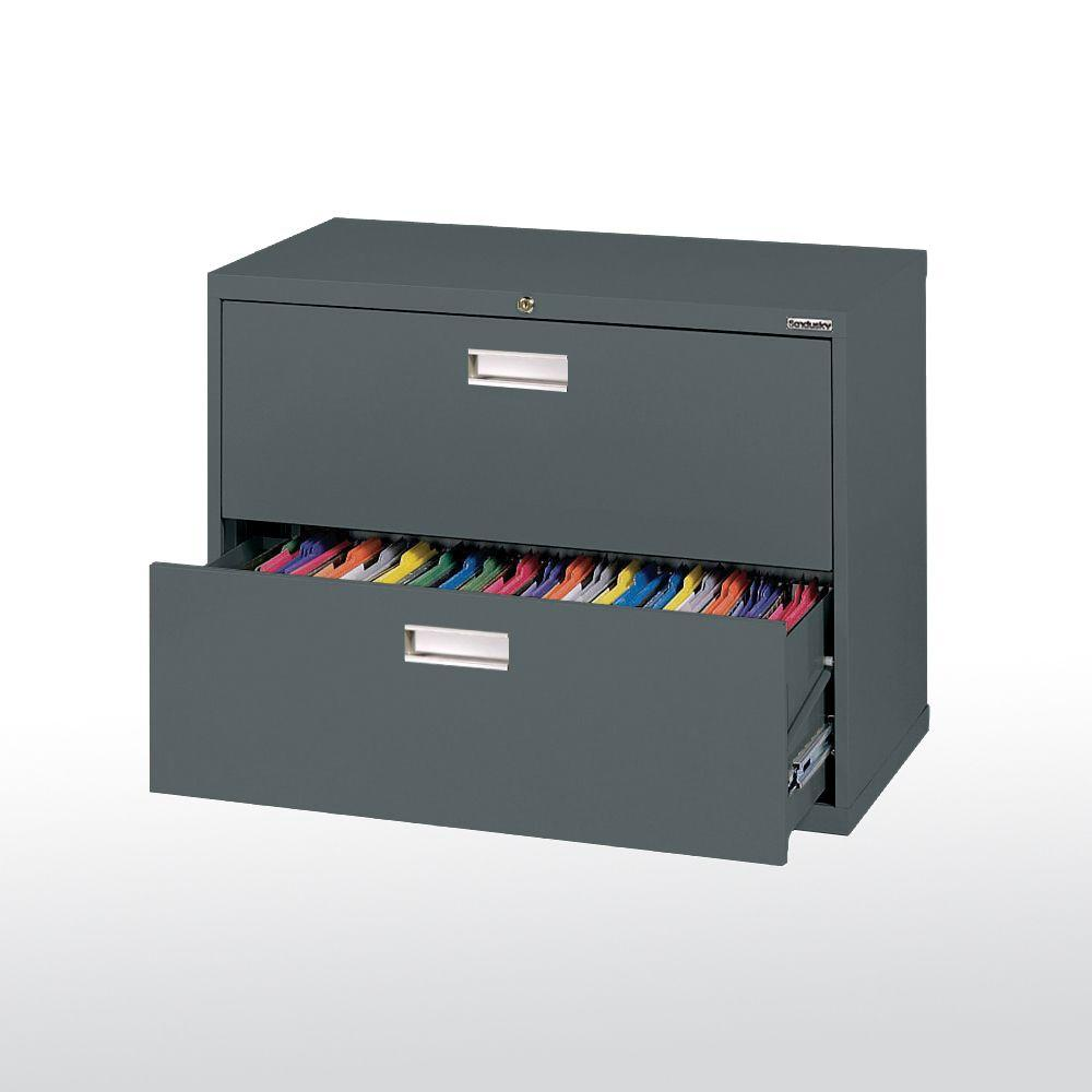 Sandusky 600 Series 36 In W 2 Drawer Lateral File Cabinet In