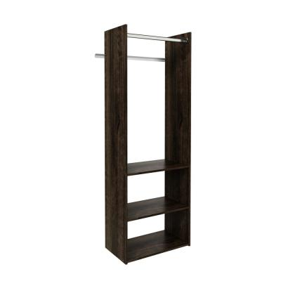 Hanging Starter 25 in. W Espresso Wood Closet Tower System