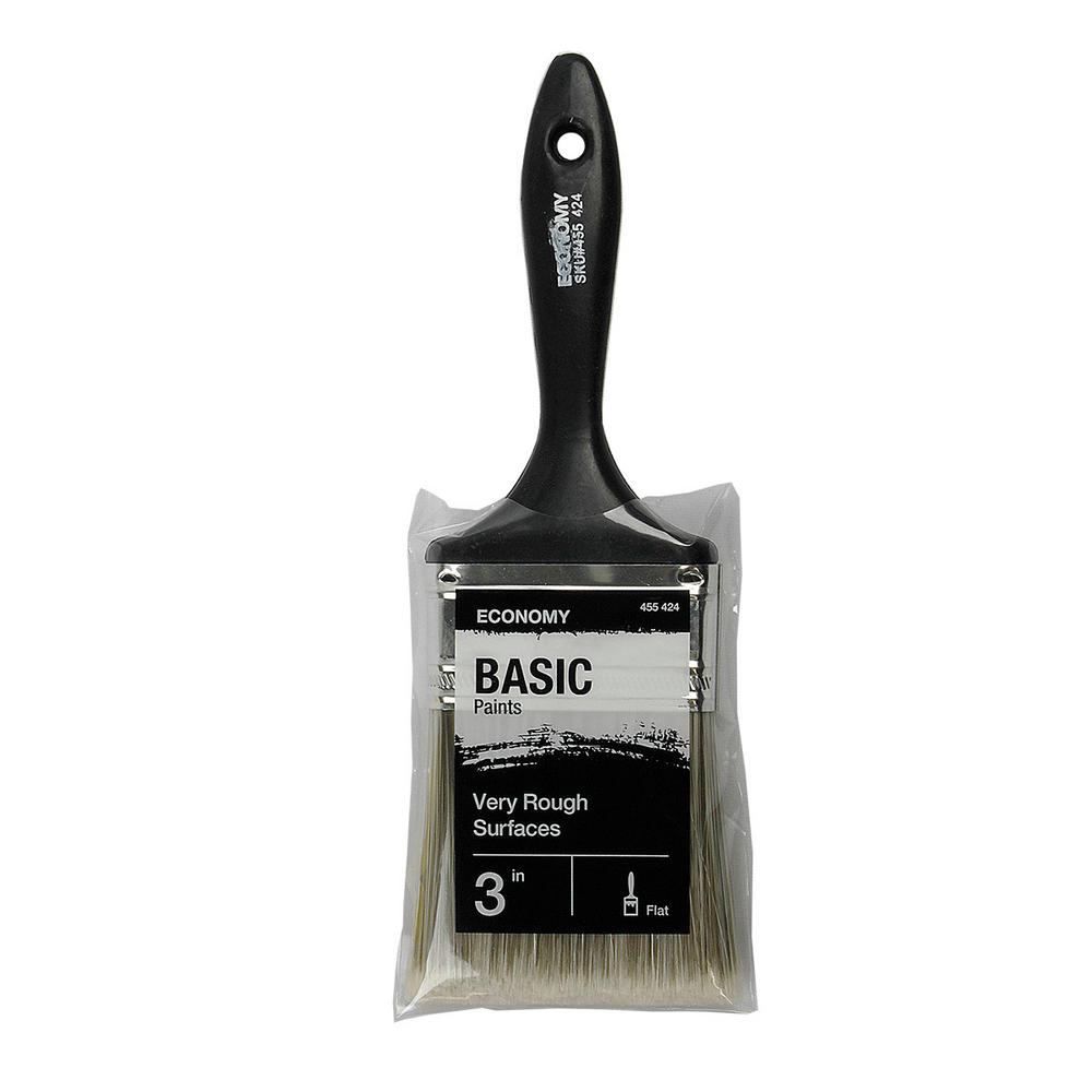 3 in. Flat Cut Utility Paint Brush