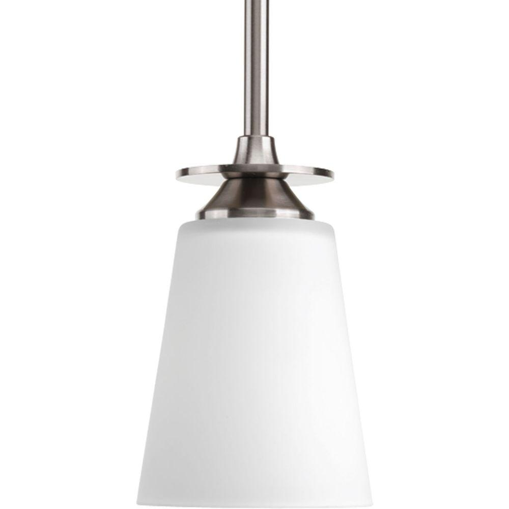 Progress Lighting Cantata Collection 1-Light Brushed Nickel Mini Pendant