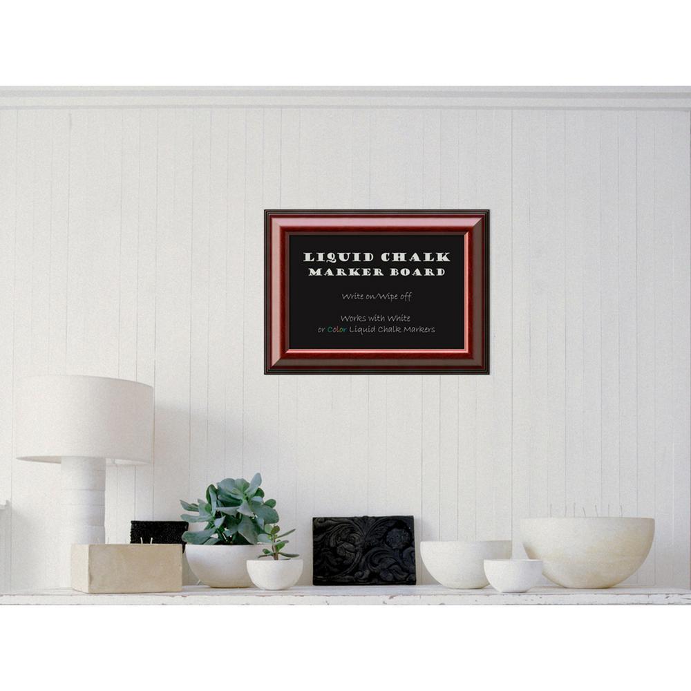 Amanti Art Cambridge Mahogany Wood 22 inch W x 16 inch H Framed Liquid Chalk... by Amanti Art