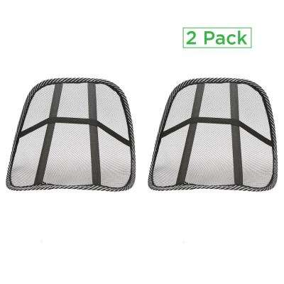 Black Mesh Lumbar Support Extra Comfortable Adjustable Breathable Cushion Fits All Types of Chairs, Car Seats