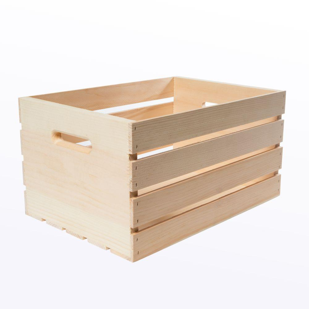 Crates And Pallet 18 In. X 12.5 In. X 9.5 In. Large Wood