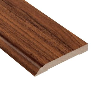 Monarch Walnut 1/2 in. Thick x 3-13/16 in. Wide x 94 in. Length Laminate Wall Base Molding