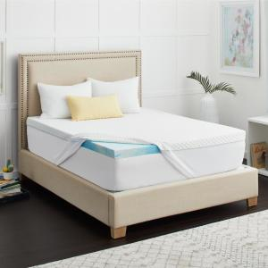 2 in. SealyChill Gel Memory Foam King Size Mattress Topper with Cover