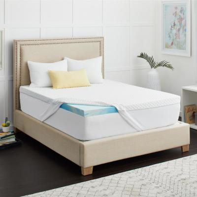 2 in. SealyChill Gel Memory Foam Queen Size Mattress Topper with Cover