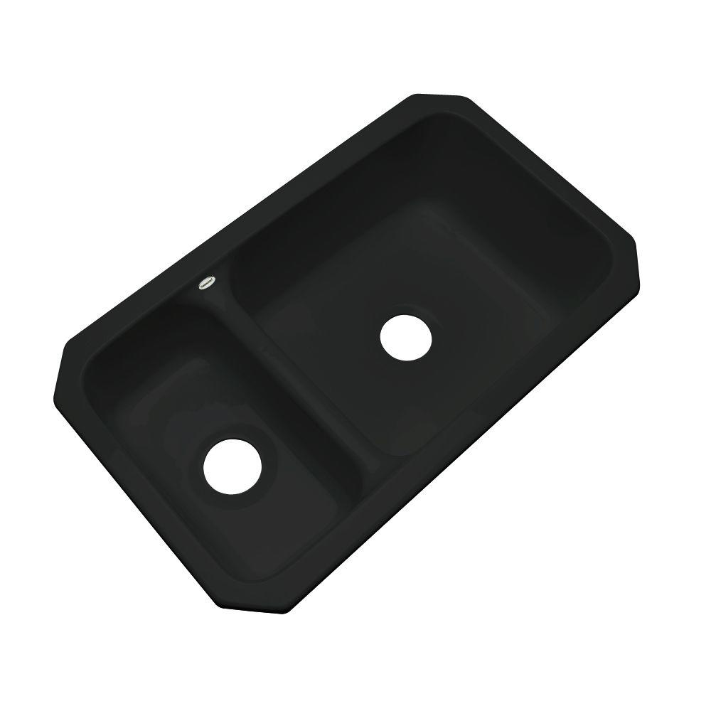 this review is from wyndham undermount acrylic 33 in  double bowl kitchen sink in black thermocast wyndham undermount acrylic 33 in  double bowl kitchen      rh   homedepot com