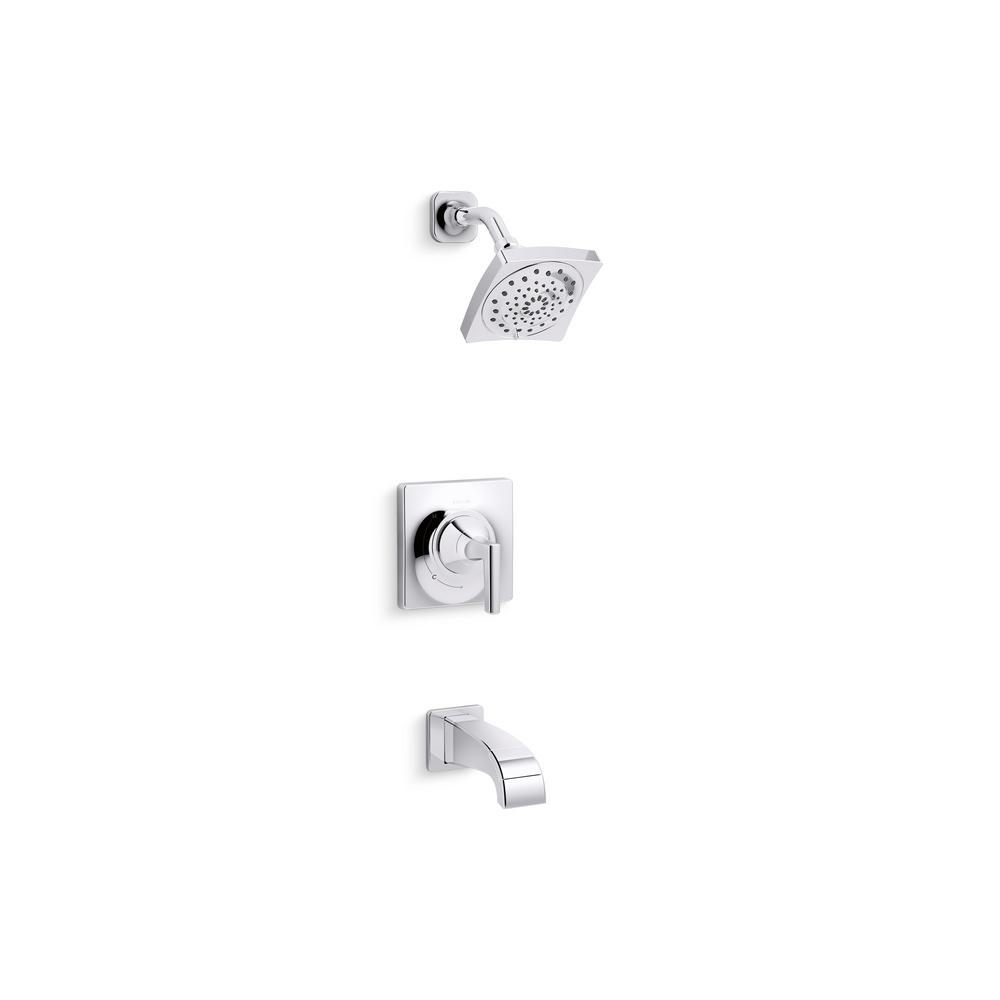 Katun 1-Handle 3-Spray Tub and Shower Faucet in Polished Chrome (Valve